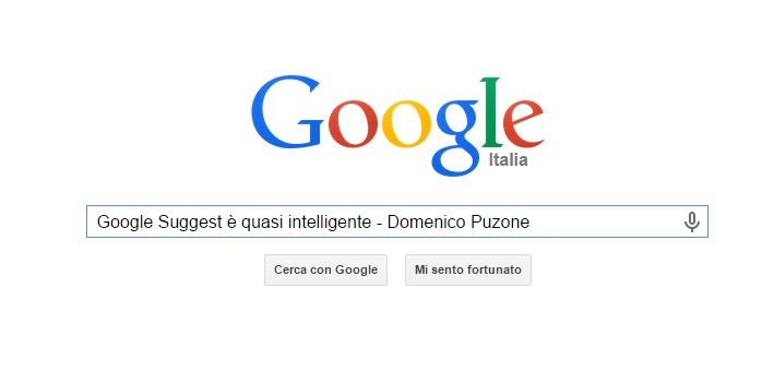 Google Suggest è intelligente