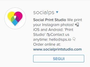 instagram esempio bio